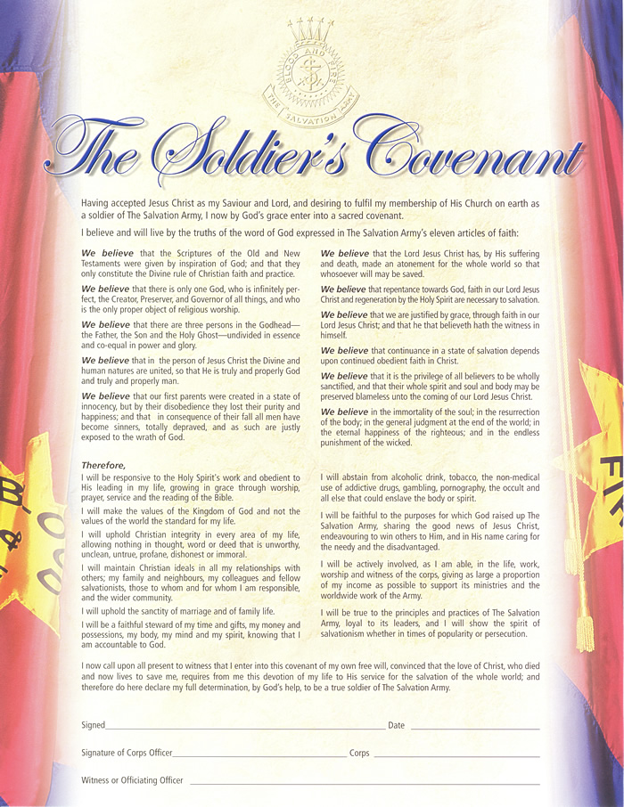 soldiers covenant